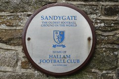Photo of Hallam Football Club and Sandygate white plaque