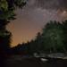 Riverbank Light at Night by Ken Krach Photography