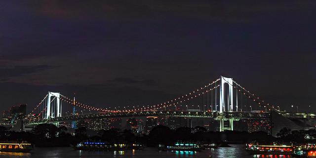 Tokyo Rainbow Bridge Night view