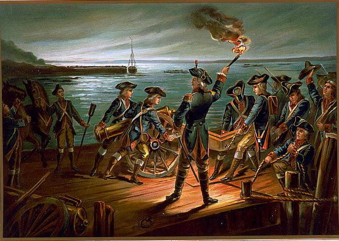 U.S. Army - Artillery Retreat from Long Island 1776 (1899)