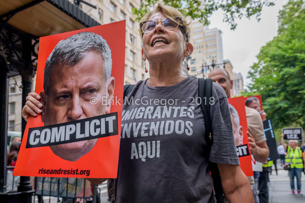NYC Activists demand De Blasio to stand up to ICE
