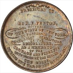 1865 New York State Volunteers Reverse
