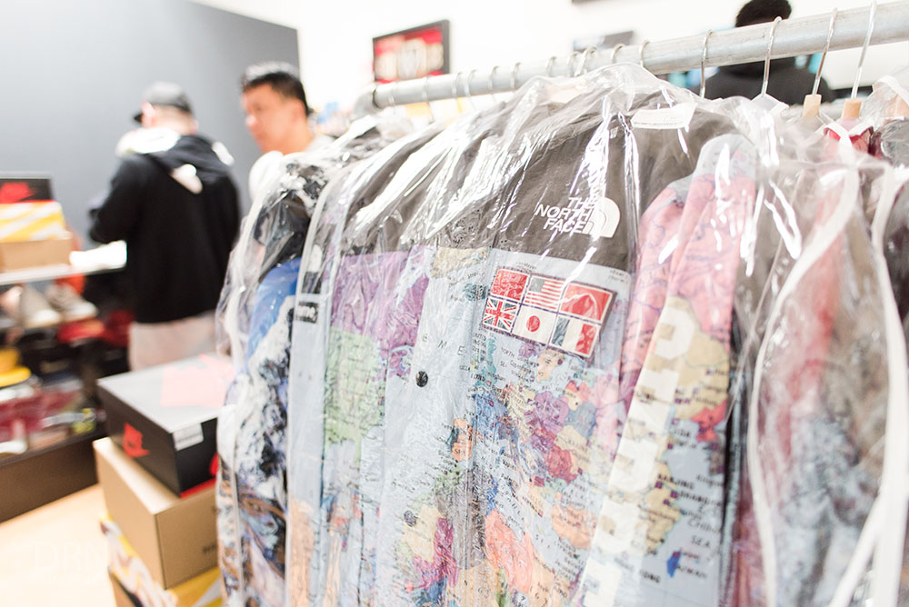 Supreme X TNF Expedition Map Jacket.
