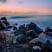 Dawn at Kamari Black Sand Beach by lfeng1014