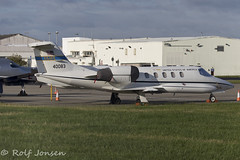 84-0083 Learjet C-21A US Airforce Glasgow airport EGPF 16.08-18