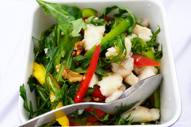 Свежий салат с жученицей