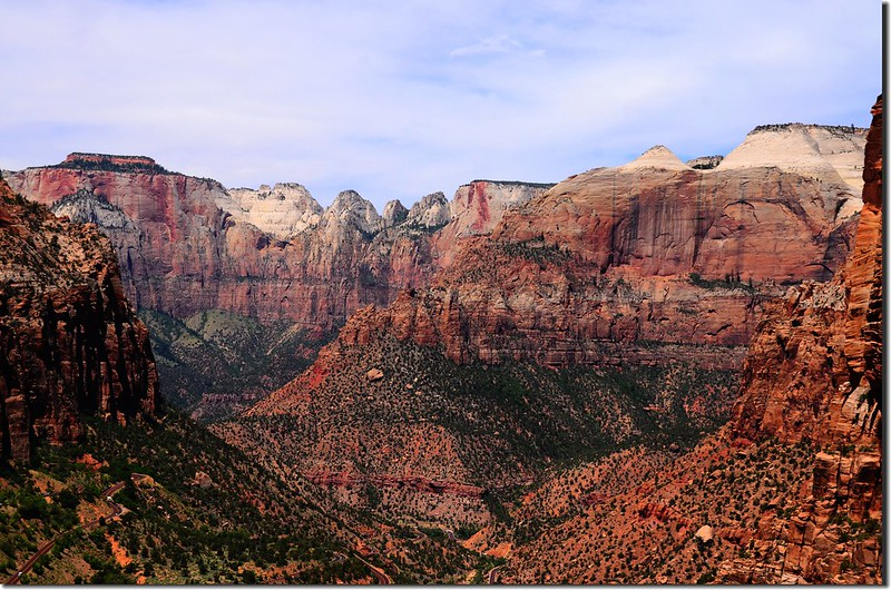 View to west from Canyon Overlook, Zion (1)