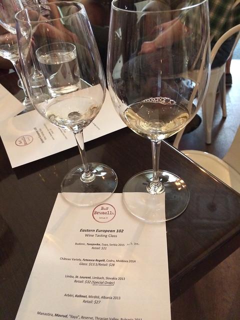 Zupa and Codru wines at Bar Brunello, Durham, NC