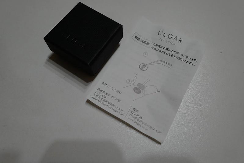 CLOAK for LEICAパッケージの中身