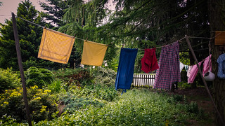 Egal wie das Wetter wird , Freitag ist Waschtag /No matter what the weather gets, Friday is washing day