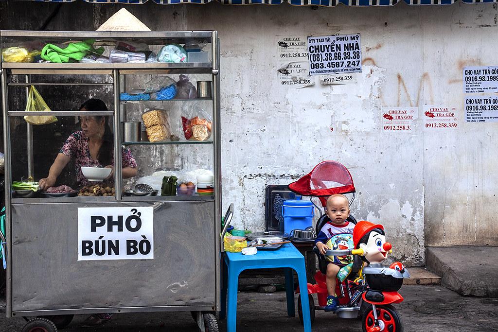 Pho stand in my Phu Lam neighborhood--Saigon
