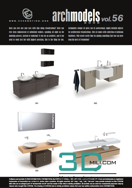 Evermotion Archmodels Vol 56: Bathroom furniture - 3D Mili