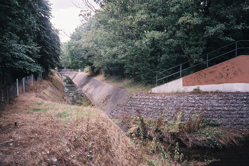 Hengrove Brook, storm drain
