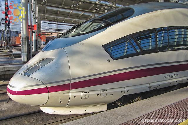 se locomover de trem na Espanha