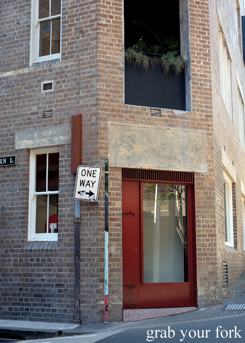 Entrance to Poly by Mat Lindsay in Surry Hills