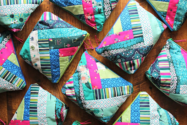 Loved to Pieces Zipper Pouch Bags