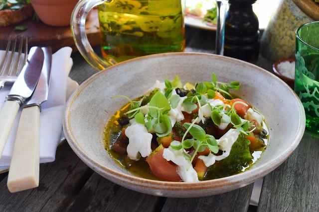 Tomato Salad with Burrata and Gremolata at The Beacon, Tunbridge Wells