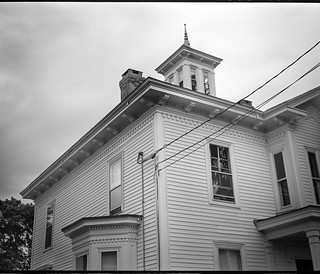 old homestead with crow's nest, power lines, overcast evening, Masonic Street, Rockland, Maine, Koni Omega Rapid 100, Super Omega 90mm f-3.5, Arista.Edu 200, Ilford Ilfosol 3 developer, 7.20.18.jpg