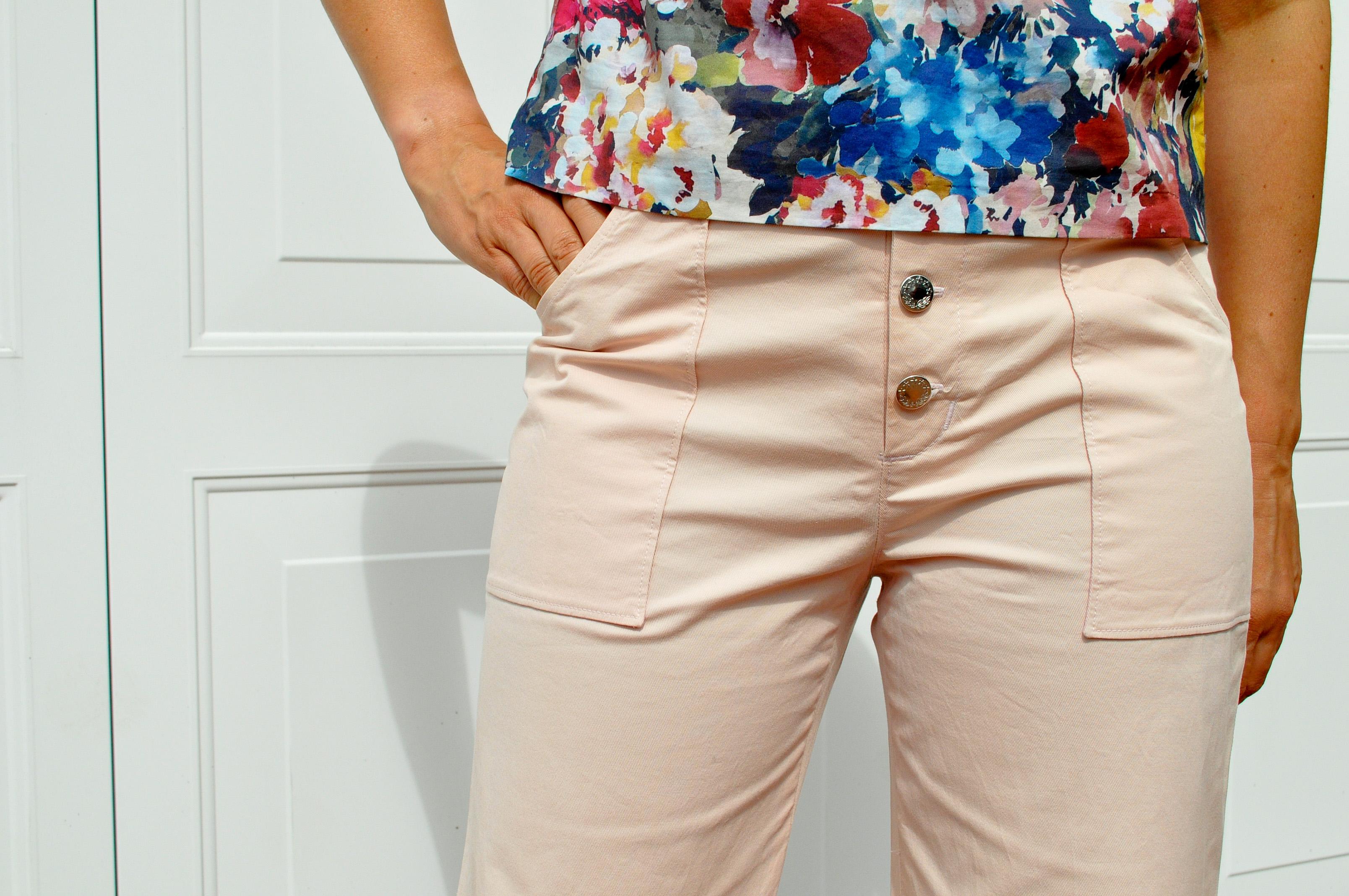 True Bias Lander pants + Butterick B6175 top