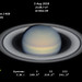 Saturn with polar storm - 5 Aug 2018