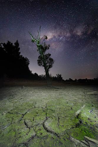 cattai newsouthwales australia au long neck longneck lagoon sydney nsw drought mud crack milky way night