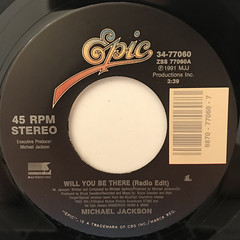 MICHAEL JACKSON:WILL YOU BE THERE(LABEL SIDE-A)