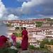 Ceremony at the Ganden Monastery, Tibet 2017 by reurinkjan