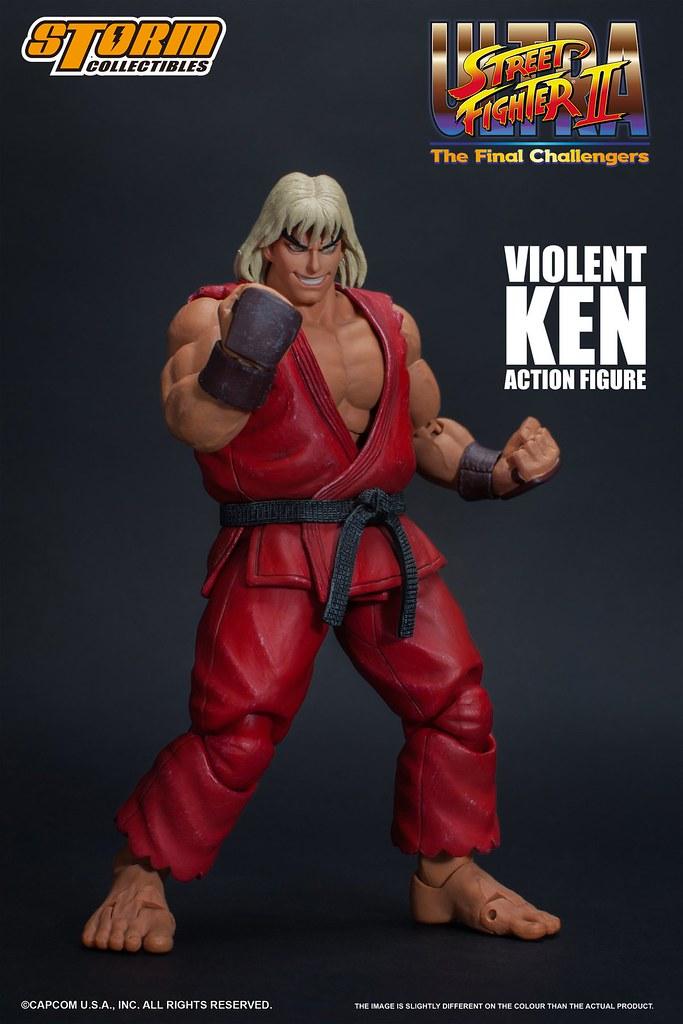 發狂的笑容有夠讚~ Storm Collectibles《終極快打旋風 2 最後挑戰者》洗腦肯 Violent Ken 1/12 比例人偶作品