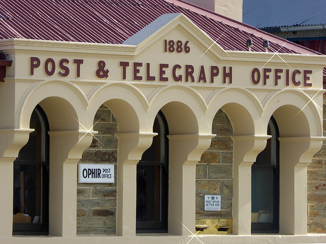 The Post and Telegraph office of Ophir, just outside of Alexandra built in 1886 is one of the historic buildings located in Ophir Central Otago