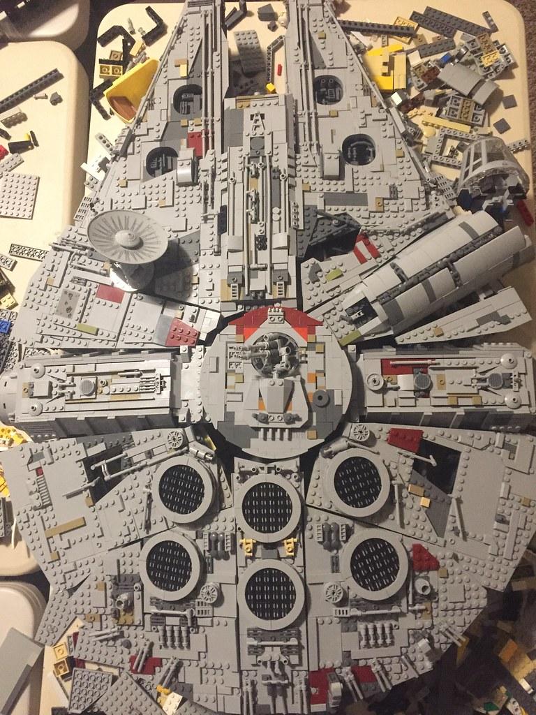 Exterior of Millennium Falcon.