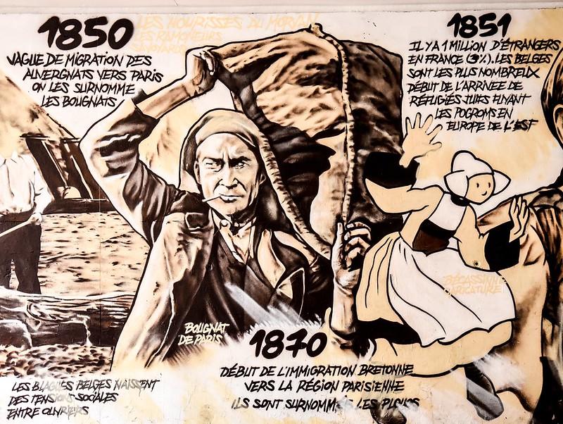 Evry Daily Photo - Fresque Murale Les Epinettes- Une Histoire de L'immigration - Evry Ile de France