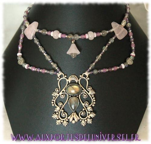 Bijoux en acier inoxydable et minéraux