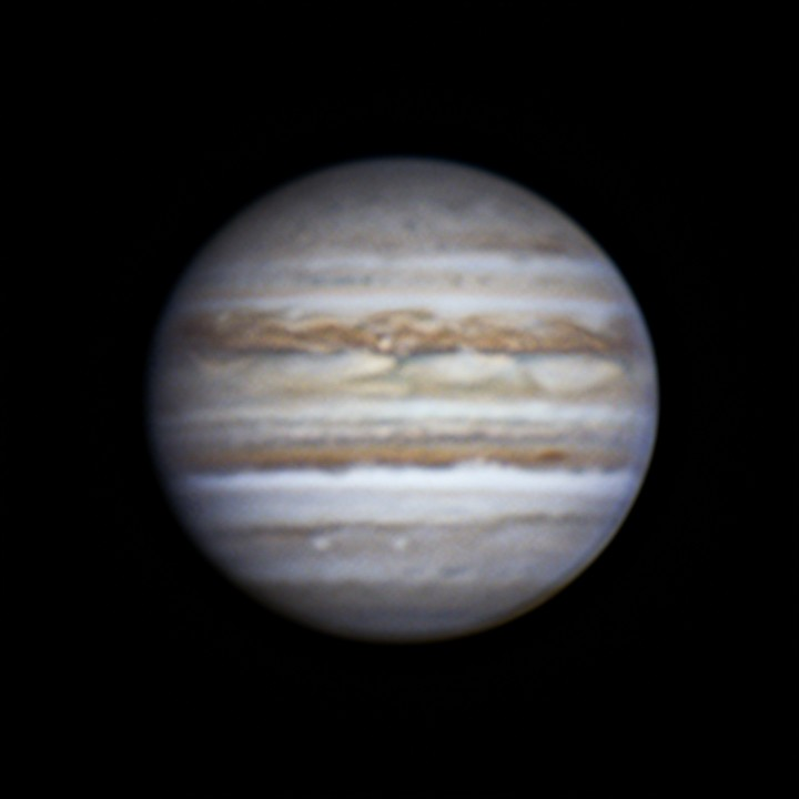 木星 (2018/7/31 19:26-19:34) (1500/3000 x 4 de-rotation (19:30) WinJUPOS LRGB)