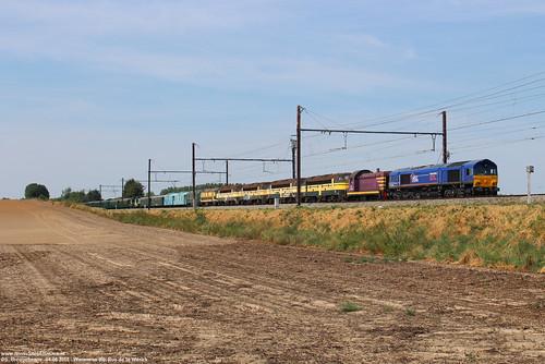 HSL 653-03 + TSP museummaterieel - Waremme (B) 04-08-2018.