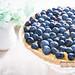 Blueberry tart with vanilla custard