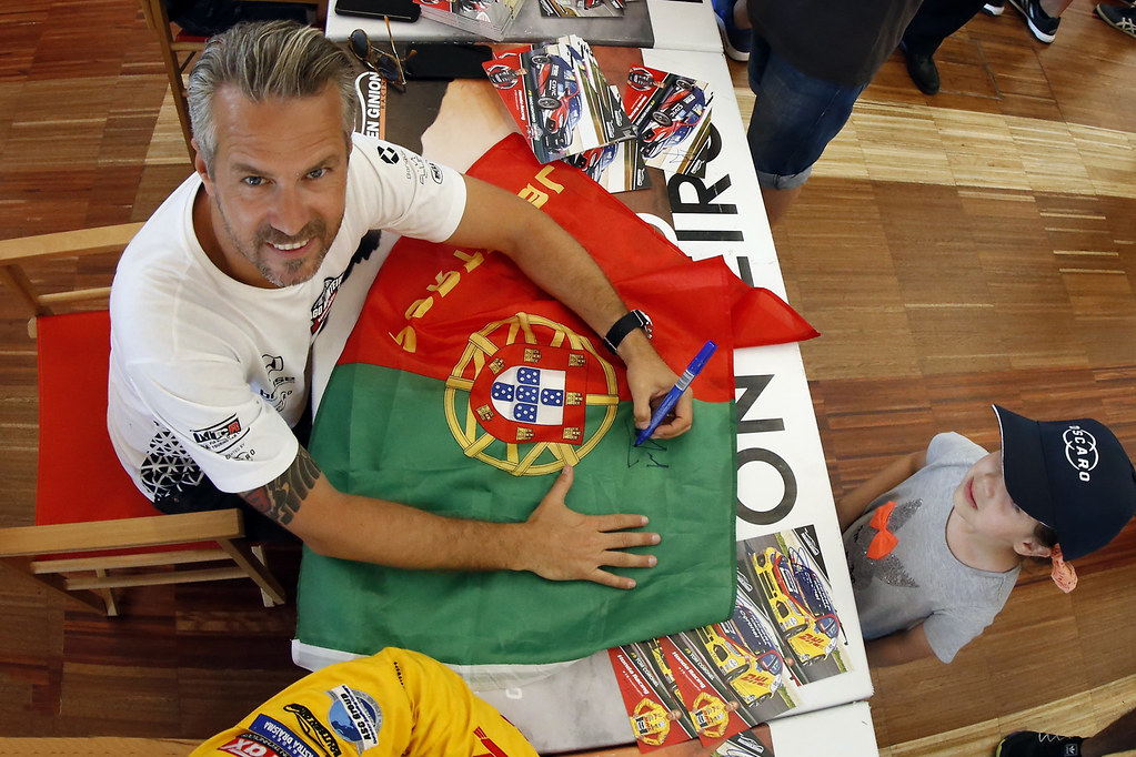 MONTEIRO Tiago (por), Boutsen Ginion Racing, portrait, autograph session during the 2018 FIA WTCR World Touring Car cup of Portugal, Vila Real from june 22 to 24 - Photo Paulo Maria / DPPI