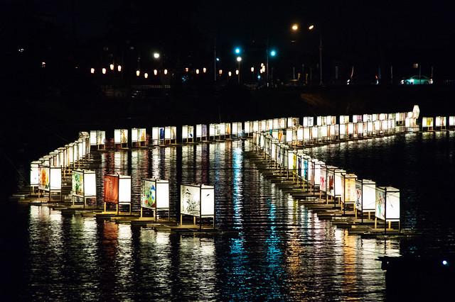 古利根川流灯まつり2018