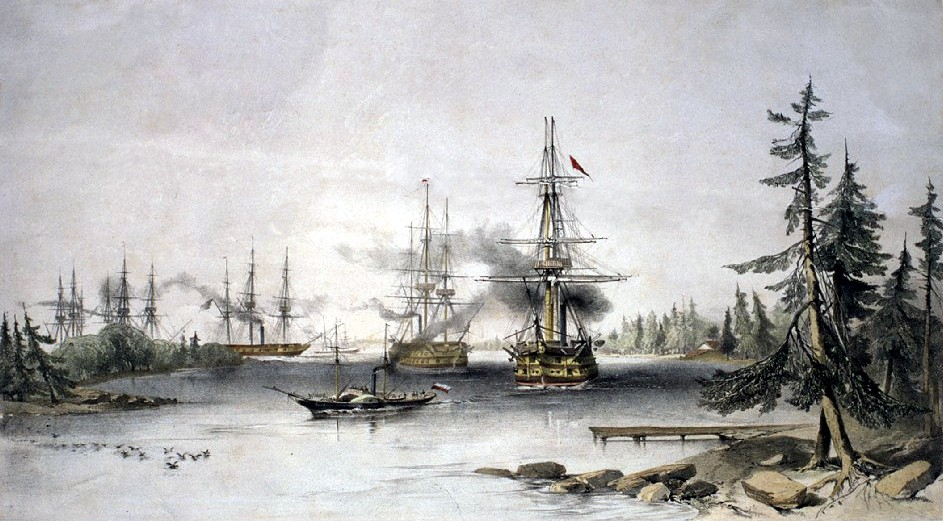 The Åland Islands during the Crimean War. It was here that the Battle of Bomarsund was fought.