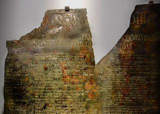 Bronze Tabula of the Ligures Baebiani, near Benevento. From the Inscriptions collection of the National Archaeological Musuem, Rome.