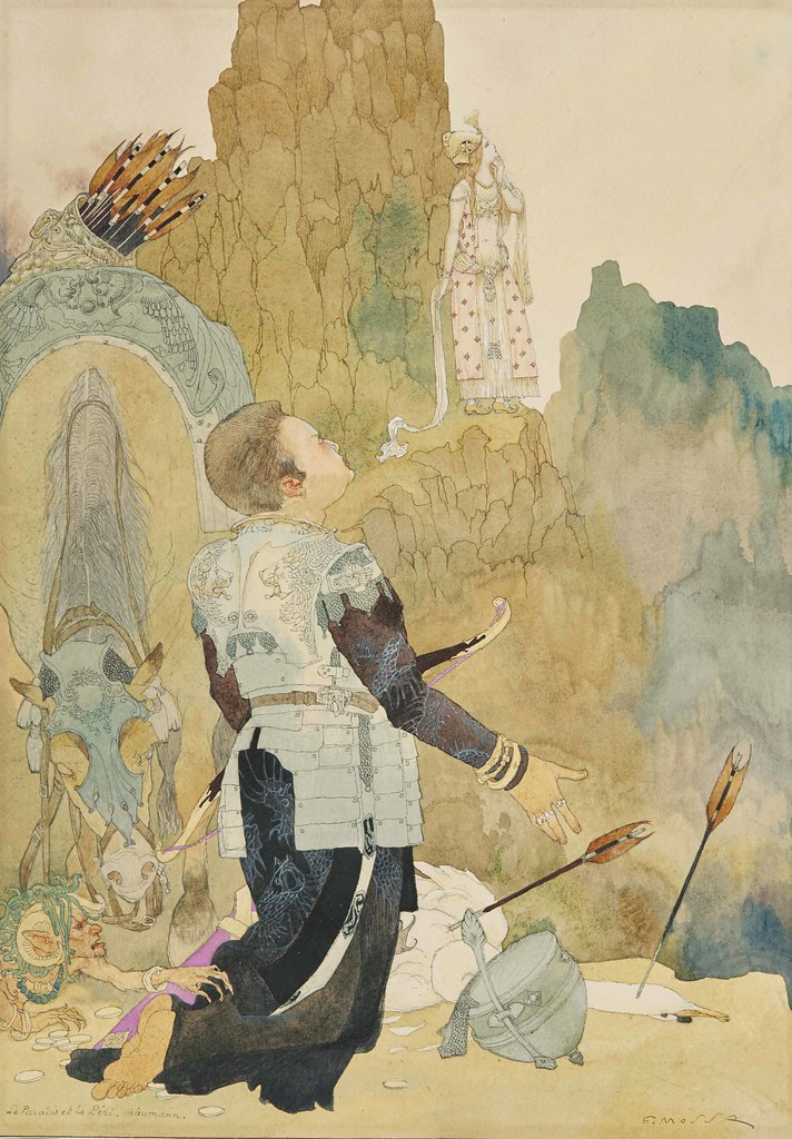 Gustav Adolf Mossa - Paradise and the Peri