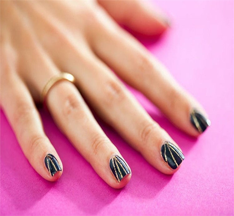 30 Beautiful Striping Tape Nail Art Designs Fashonails
