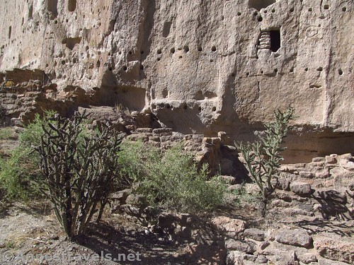 Old pueblo sites along the Main Loop in Bandelier National Monument, New Mexico