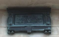 Photo of William Pitt bronze plaque