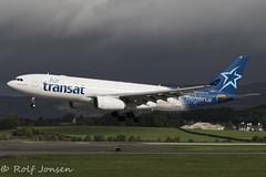 C-GPTS Airbus A330-200 Air Transat Glasgow airport EGPF 16.08-18