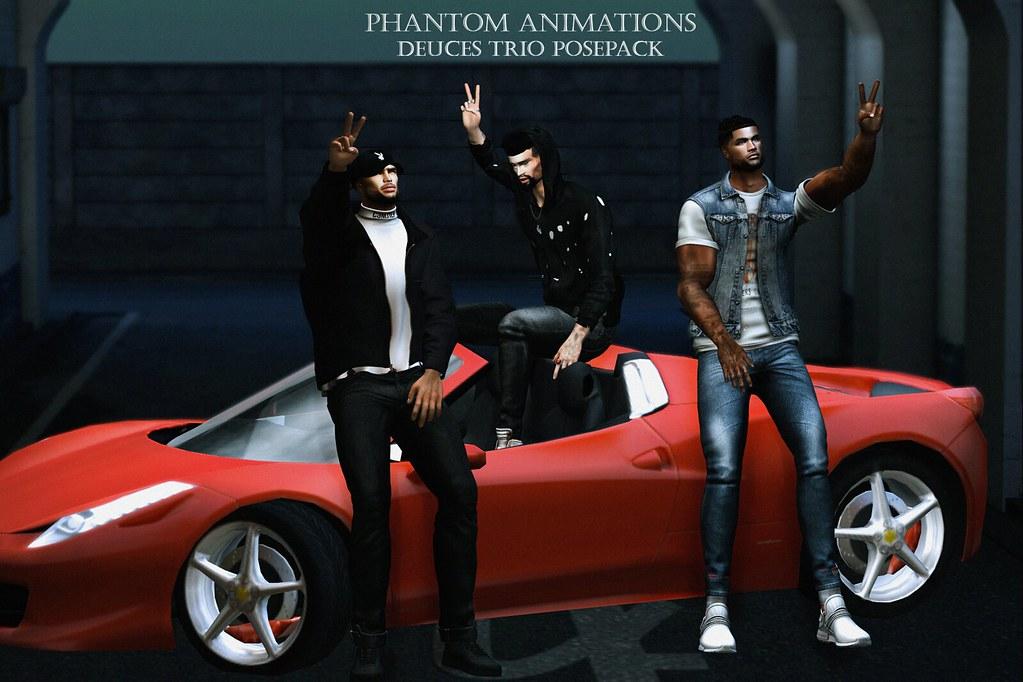 Phantom Animations - Deuces Trio - TeleportHub.com Live!
