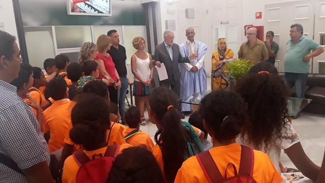 El Defensor del Pueblo Andaluz y del Menor recibe a los niños y niñas saharauis