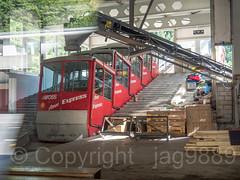 Old Stossbahn Funicular Railway Train, Schlattli Base Station, Schwyz, Canton of Schwyz, Switzerland