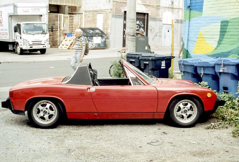 Red Porsche 914