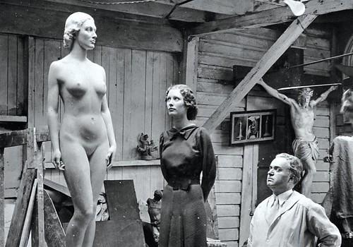 Frank Vittor with model Henrietta Leaver