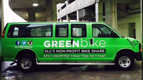 GreenBike bike share van, Salt Lake City